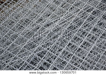 close up steel wire net for texture