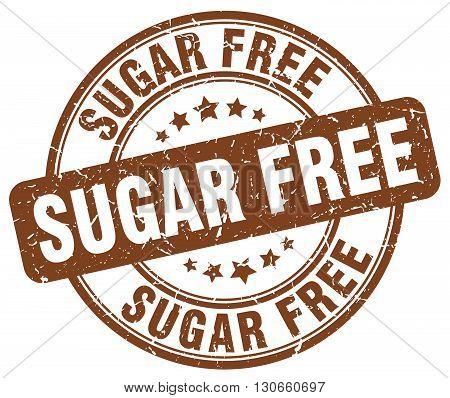 sugar free brown grunge round vintage rubber stamp