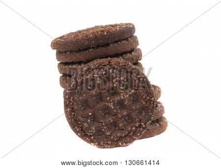 chocolate cookies dessert isolated on white background