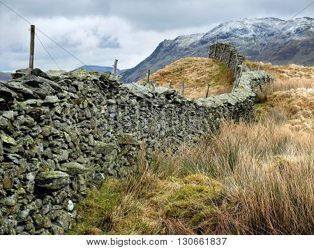 Dry stone wall in the English Lake District
