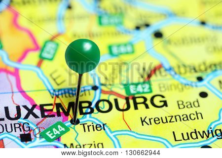 Trier pinned on a map of Germany