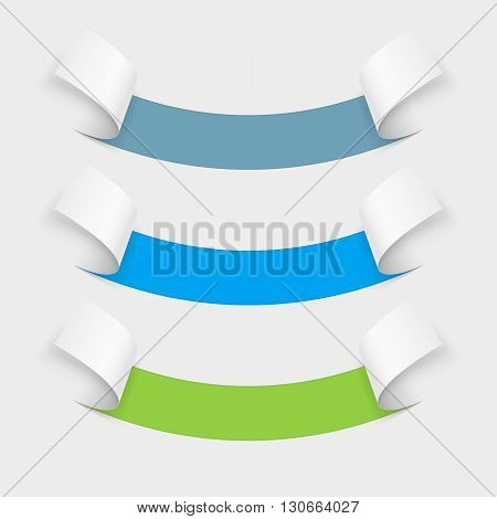 Set of abstract information coming off a piece of paper. Arch down