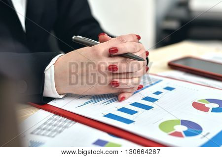 Accountant Woman Siting In Office