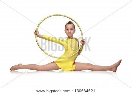 Little Girl With Hula Hoop