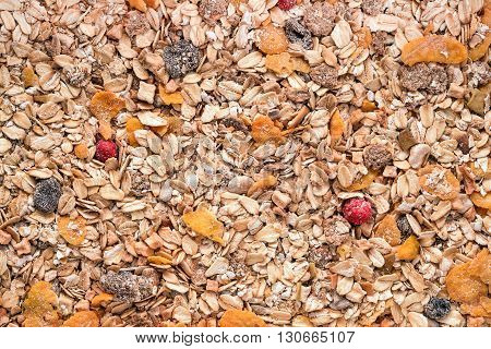dry fruits and cereal mix background texture