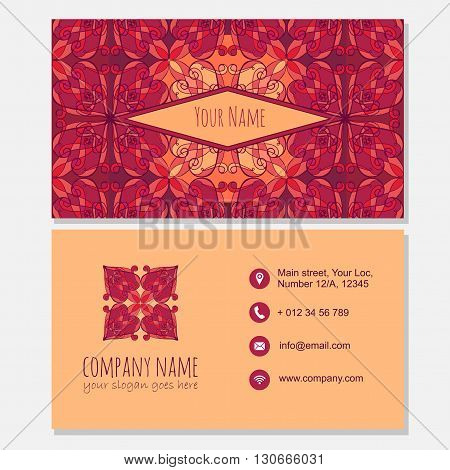Visiting Card With Modern Icon Design.business Card Template.  Logo Element.  Best For Identity And