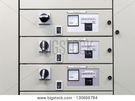Electrical panel board motors control, remote control motor.
