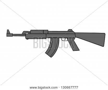 This is an illustration of automatic gun