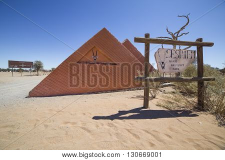 Camping Sesriem entrance near Sossusvlei in the Namib-Naukluft National Park of Namibia