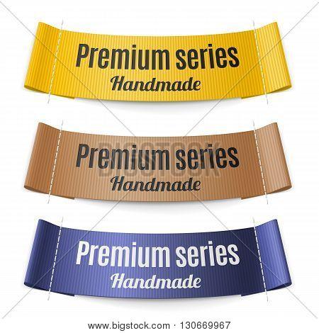 Set of Labels stripe premium series hand made
