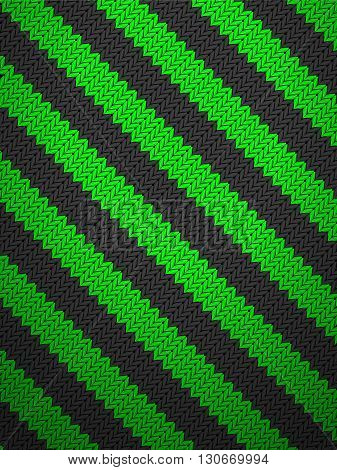 Knitted green  pattern background texture. Vector illustration.