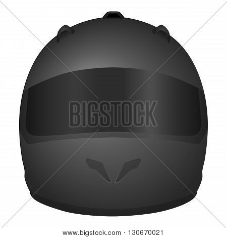 Motorcycle helmet on a white background. Vector illustration.