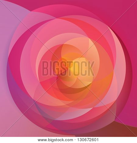 abstract modern artistic rounded floral shapes background - significant pink red and magenta colored