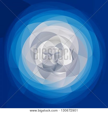 abstract modern artistic rounded shapes background - winter blue and white colors