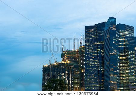 The cityscape architecture building business metropolis concept