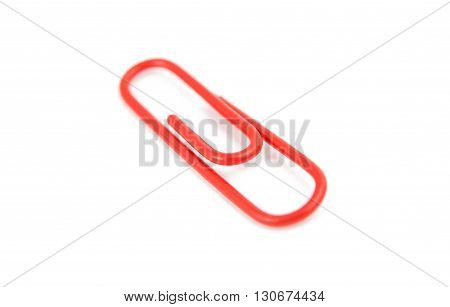 accessory paper clip isolated on white background