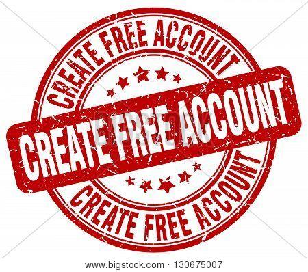 create free account red grunge round vintage rubber stamp