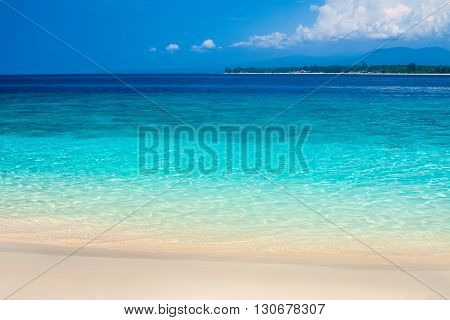 Beautiful Beach And Tropical Turquoise Sea