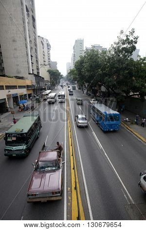 CARACAS VENEZUELA - MAY 05 2014 - view of downtown of caracas venezuela