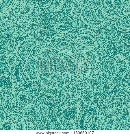 Wallpaper Textile Seamless Paisley Pattern.
