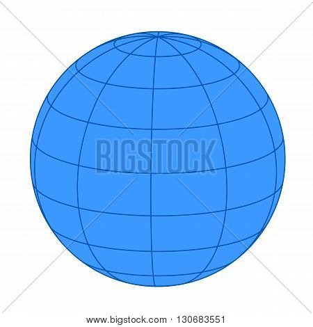 Earth on white background. Vector illustration for your design