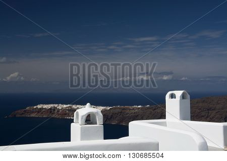 View To Oia From Imerovigli, Santorini, Greece