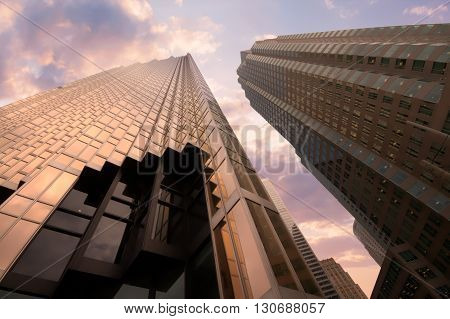 Toronto, Canada - January 30, 2016: Skyscrapers In Downtown Toronto, Financial District.