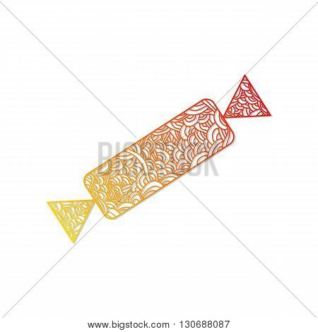 candy. Christmas collection. Christmas collection. Doodle stylized vector illustration.