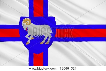 Flag of Faroe Islands is an island country consisting of an archipelago of small islands between the Norwegian Sea and the North Atlantic Ocean