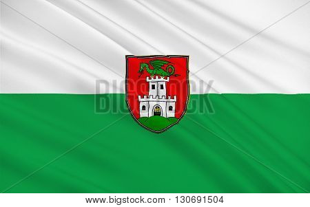 Flag of Ljubljana is the capital and largest city of Slovenia