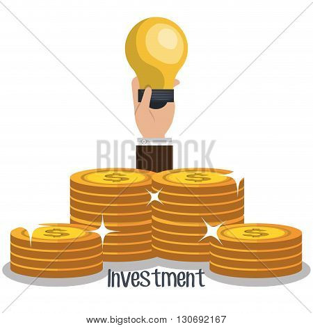 funding and investment design, vector illustration eps10 graphic