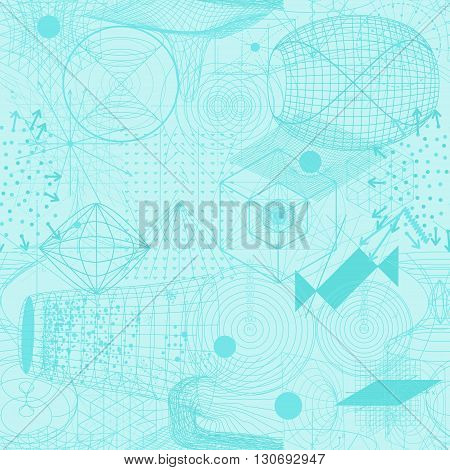 Sacred Geometry Symbols And Elements Wallpaper Seamless Pattern