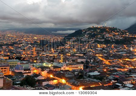 Sunset Over The City Of Quito
