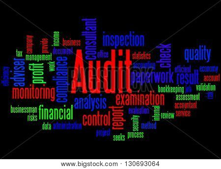 Audit, Word Cloud Concept 6