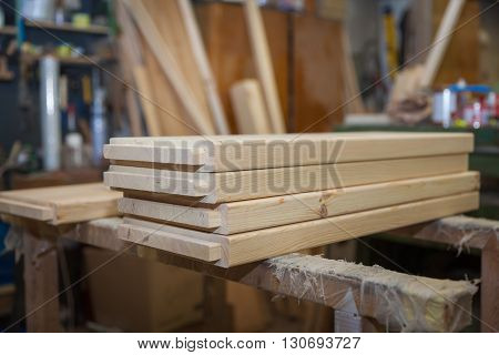 Wooden boards ready for wooden furniture production