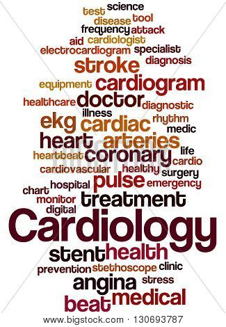 Cardiology, Word Cloud Concept 6