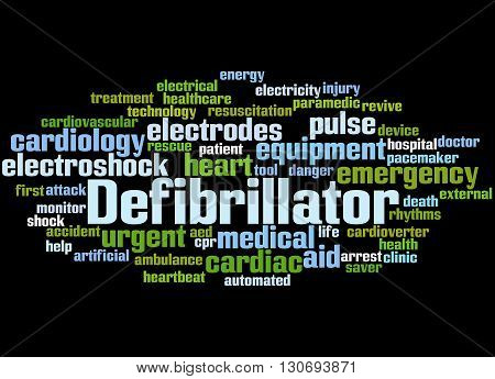 Defibrillator, Word Cloud Concept 3