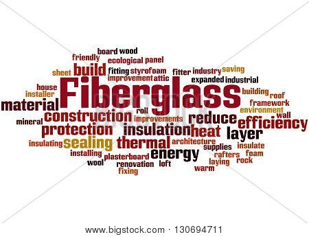 Fiberglass, Word Cloud Concept