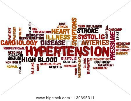 Hypertension, Word Cloud Concept 8