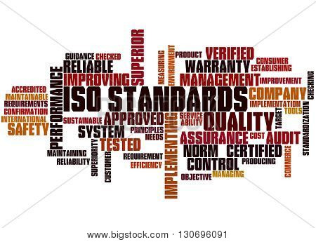 Iso Standards, Word Cloud Concept 5