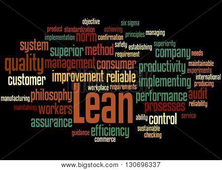 Lean - Management Approach, Word Cloud Concept 4