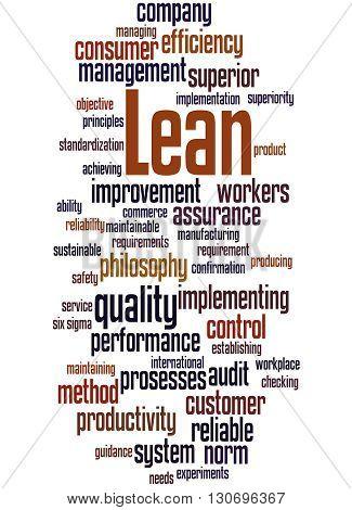 Lean - Management Approach, Word Cloud Concept 7