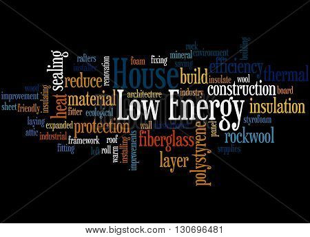 Low Energy House, Word Cloud Concept 5