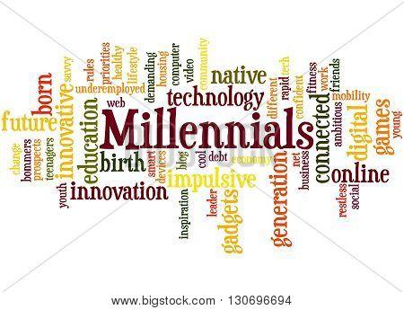 Millennials, Word Cloud Concept 2