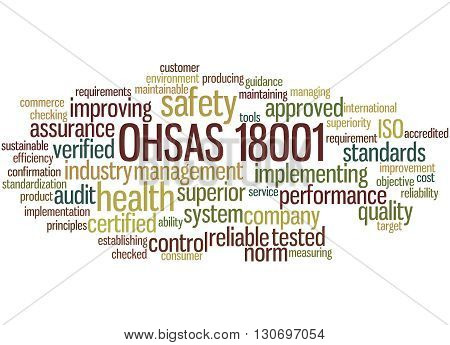 Ohsas 18001 - Health And Safety, Word Cloud Concept 3