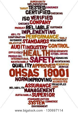 Ohsas 18001 - Health And Safety, Word Cloud Concept 9