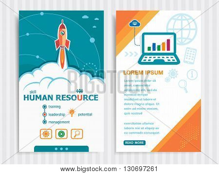 Project Human Resource Concepts And Set Of Banners.