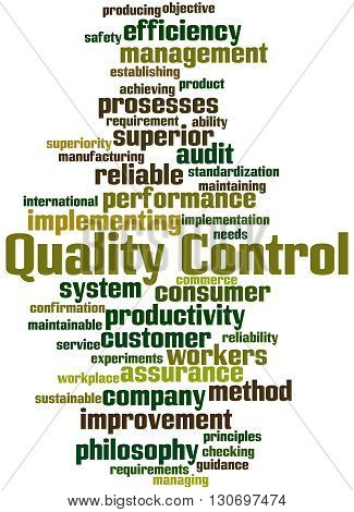 Quality Control, Word Cloud Concept 4
