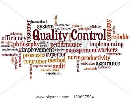 Quality Control, Word Cloud Concept 6