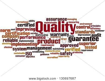 Quality, Word Cloud Concept 2